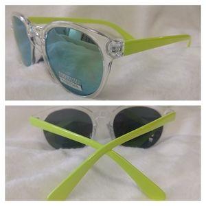 Retro 80s UV 400 2 Tone Mirror Sunglasses